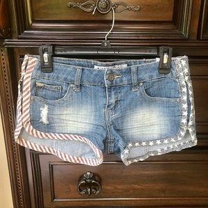 USA Distressed Jean Shorts